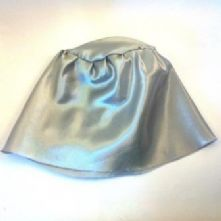 Pewter Grey Satin Sew-in Hat Lining